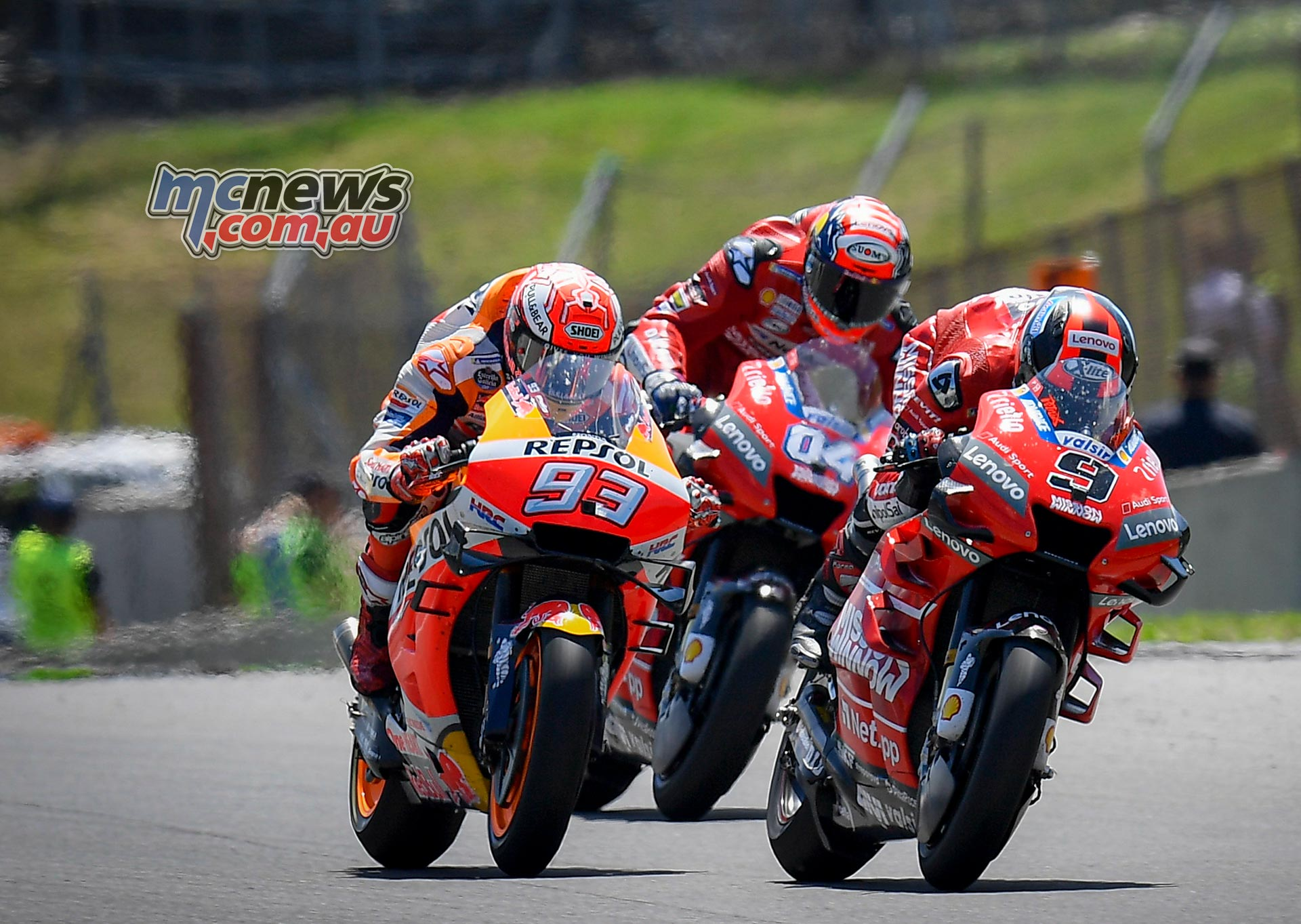 MotoGP Rnd Mugello Race Petrucci Marquez Dovizioso