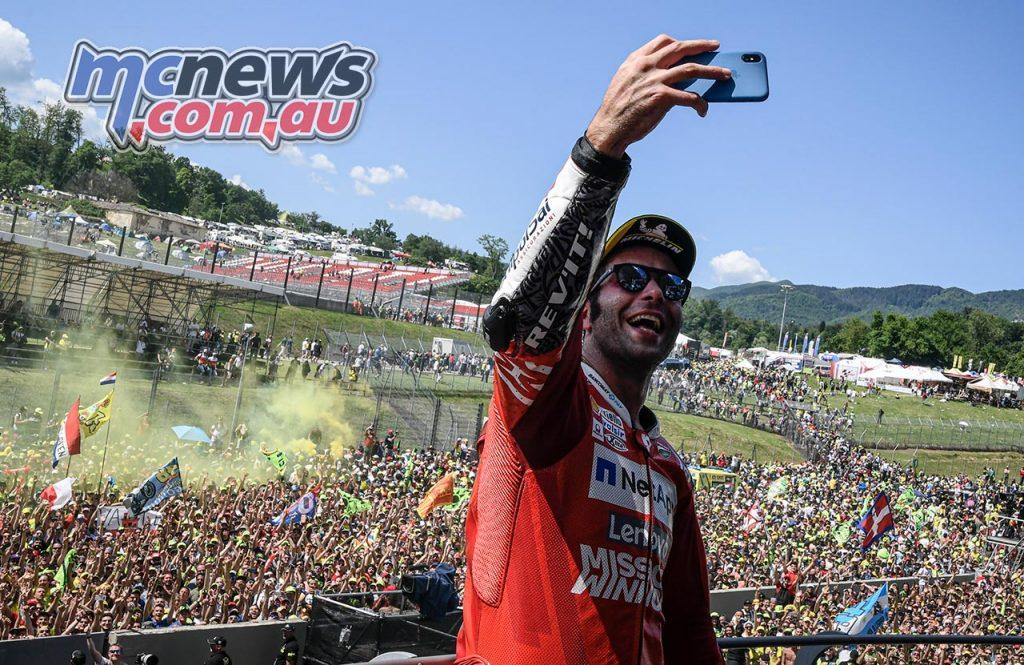 MotoGP Rnd Mugello Race Petrucci Selfie
