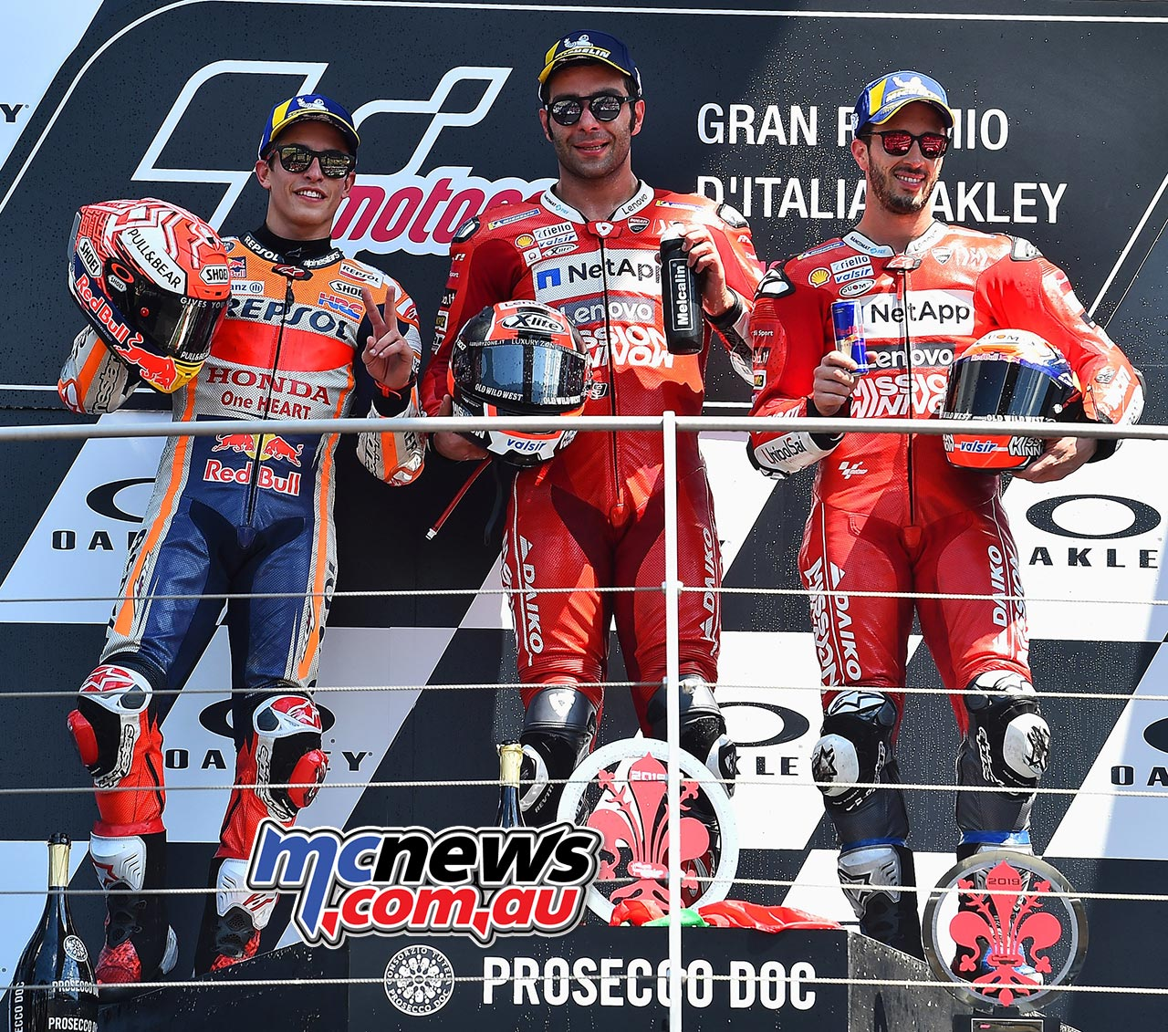 MotoGP Rnd Mugello Race Podium Petrucci Marquez Dovizioso