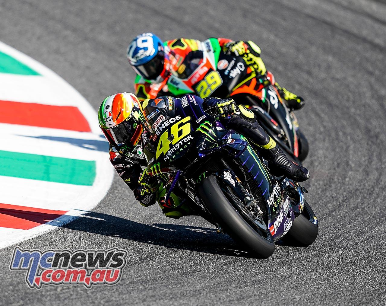 MotoGP Rnd Mugello Race Rossi Iannone