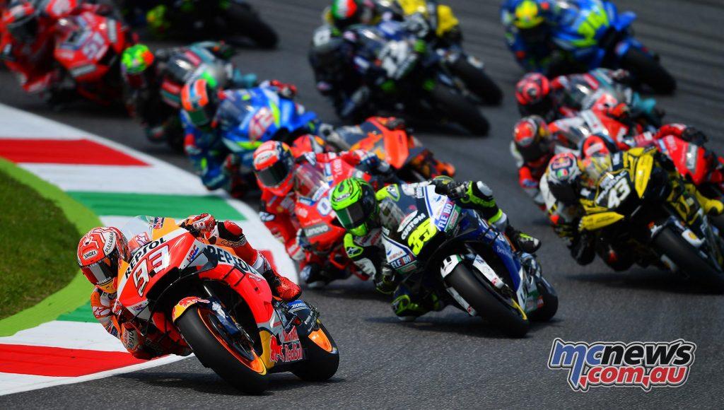 MotoGP Rnd Mugello Race Start Marquez Crutchlow Miller