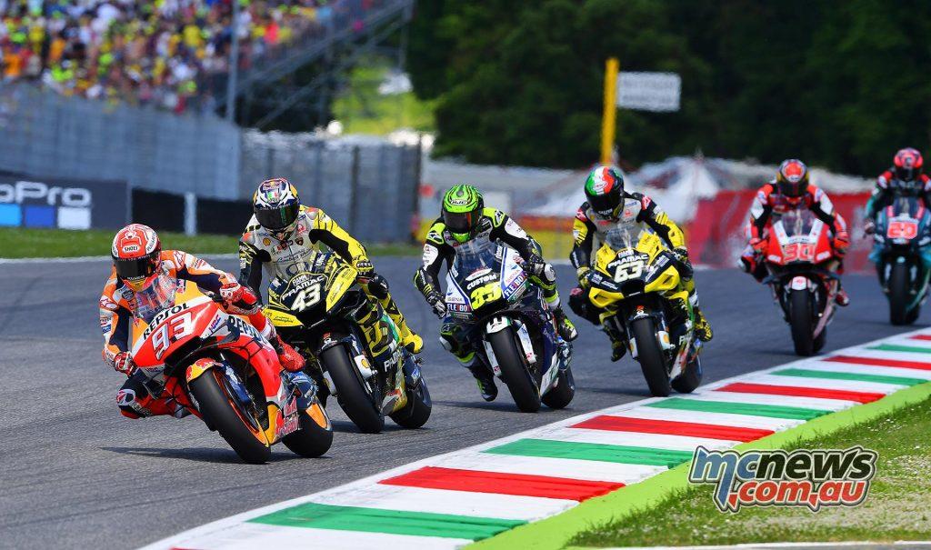 MotoGP Rnd Mugello Race Start Marquez Miller Crutchlow Bagnaia