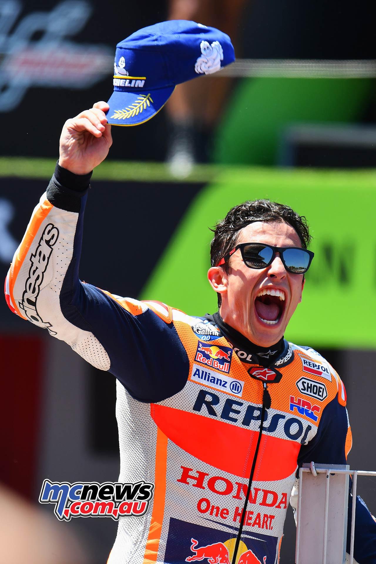 MotoGP Rnd Catalunya Marc Marquez Celebrate