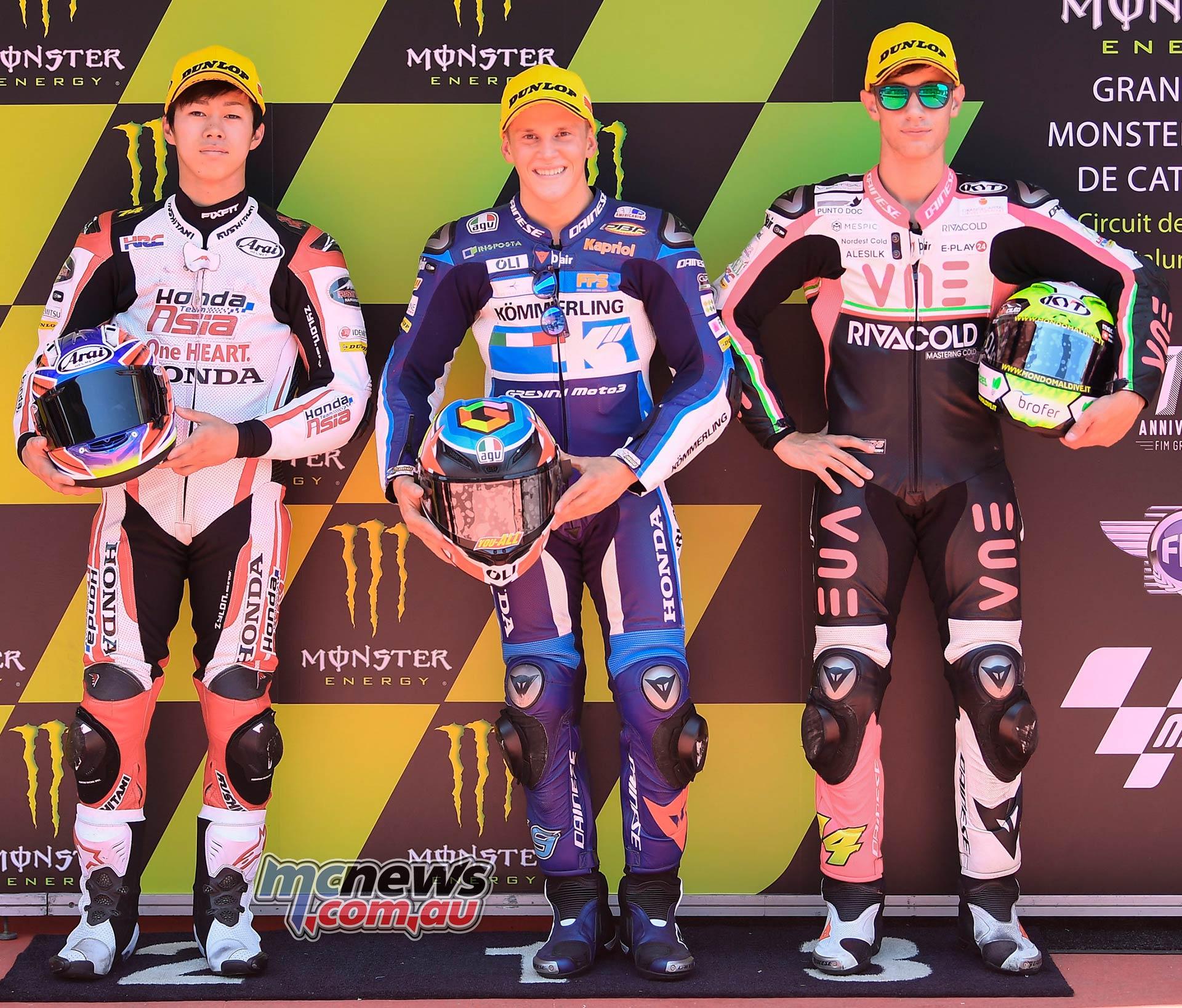MotoGP Rnd Catalunya QP Moto Gabriel Rodrigo Ogura Arbolino