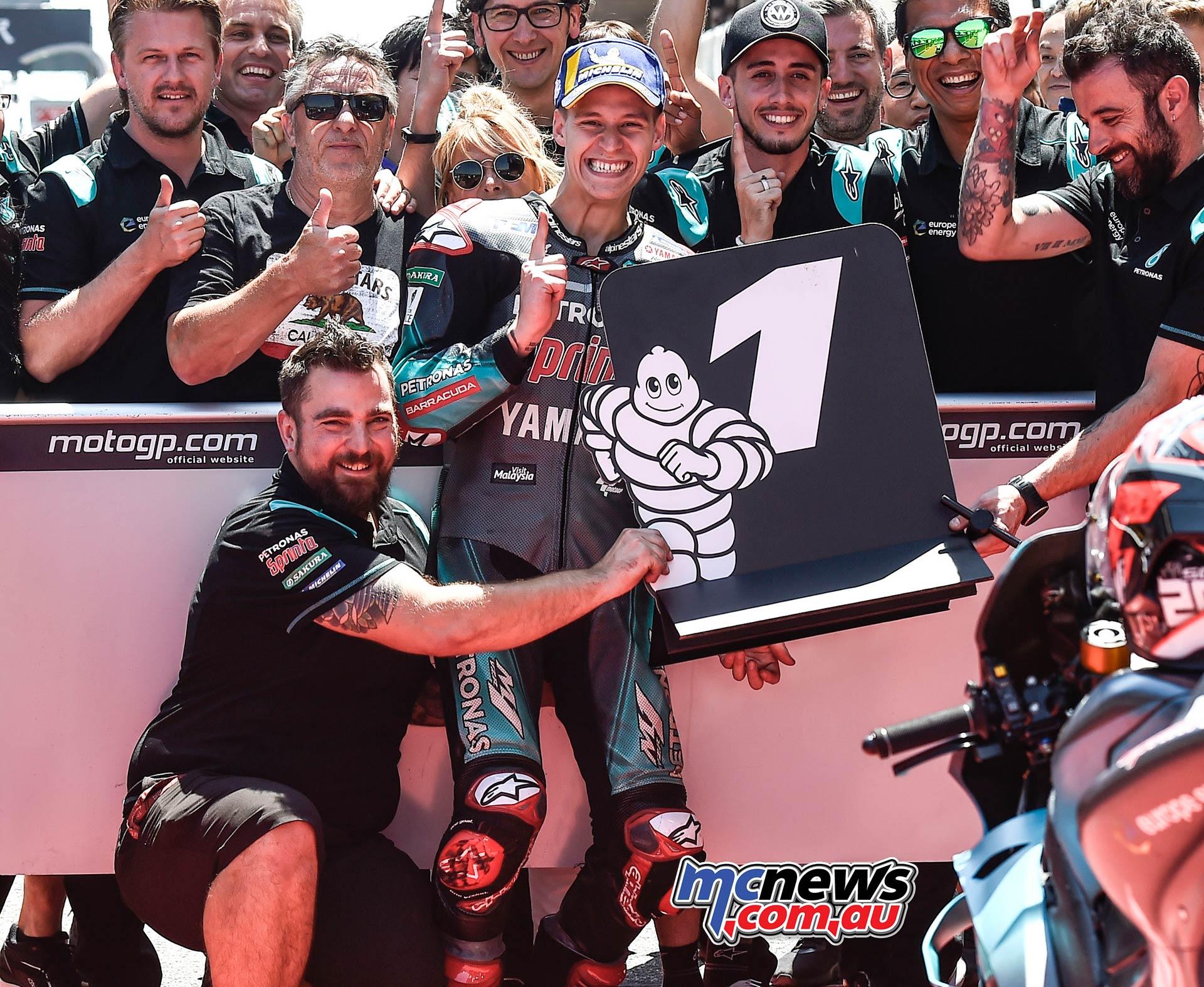 MotoGP Rnd Catalunya QP Quartararo Parcferme