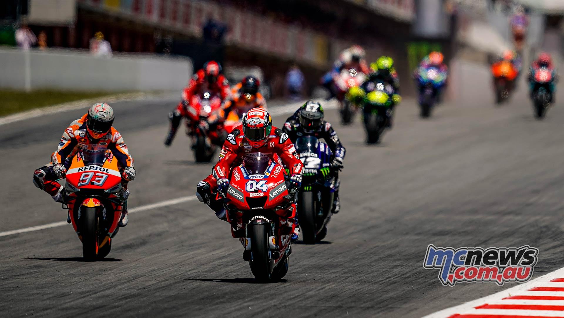 MotoGP Rnd Catalunya Start Dovizioso Marquez Vinales Lorenzo Petrucci