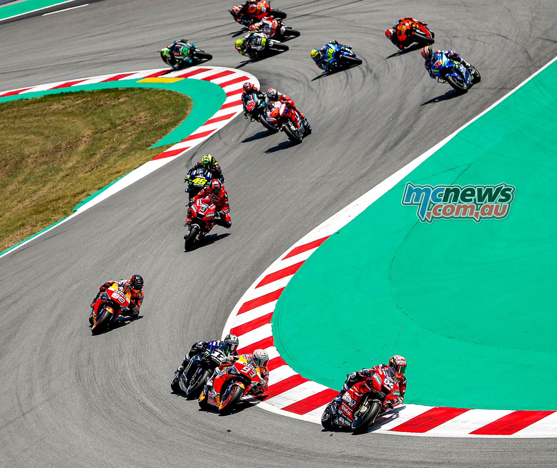 MotoGP Rnd Catalunya Start Dovizioso Marquez Vinales Lorenzo