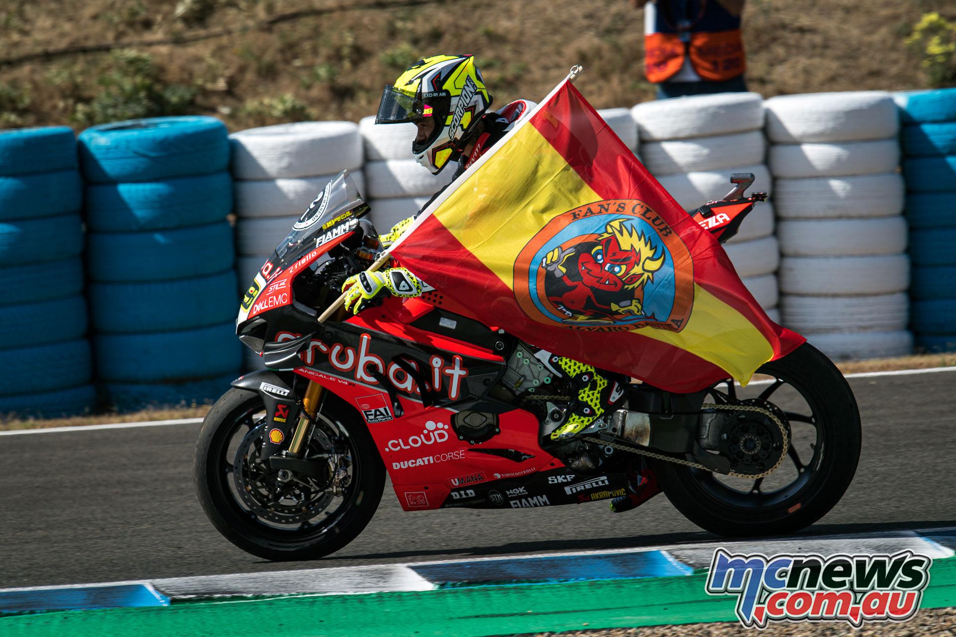 WSBK Rnd Jerez Sun Alvaro Bautista UC