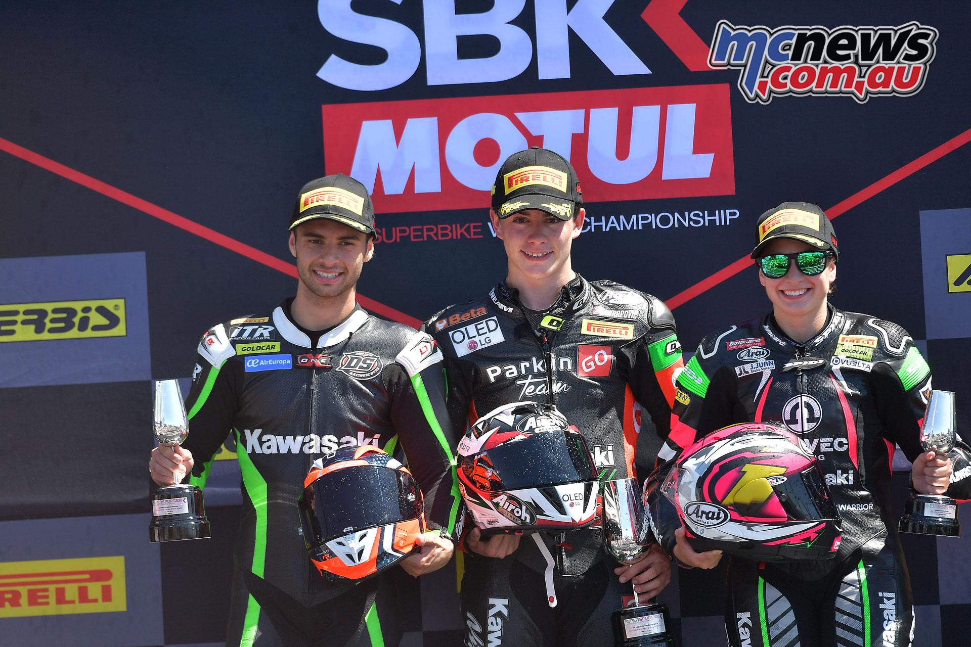 WSBK Rnd Jerez Sun WorldSSP podium