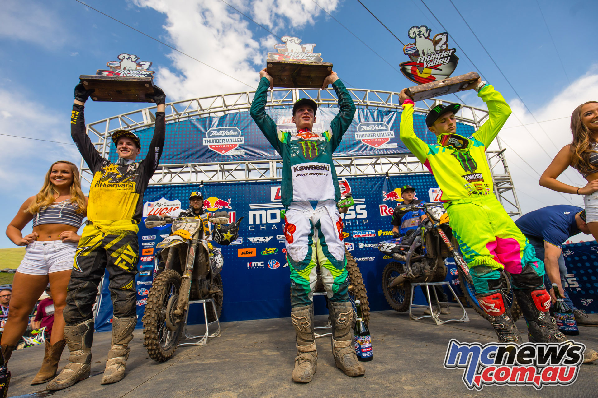 AMA MX Rnd Thunder Valley Podium JK MX Lakewood