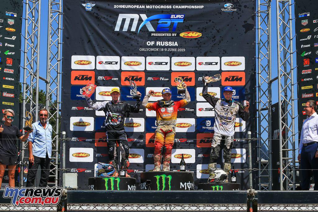 MXGP Rnd Russia EMXT podium