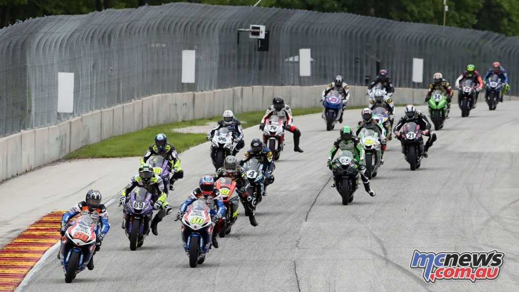 Moto America Road America Sat Supersport Start BJN P