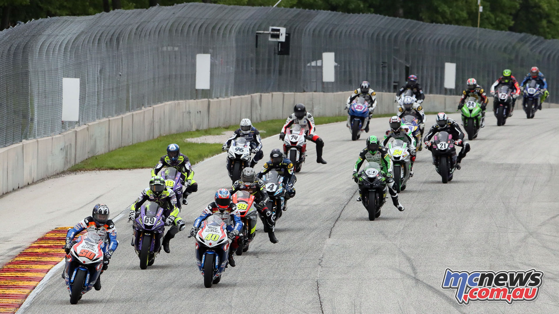 Moto America Road America Sat Supersport Start BJN P