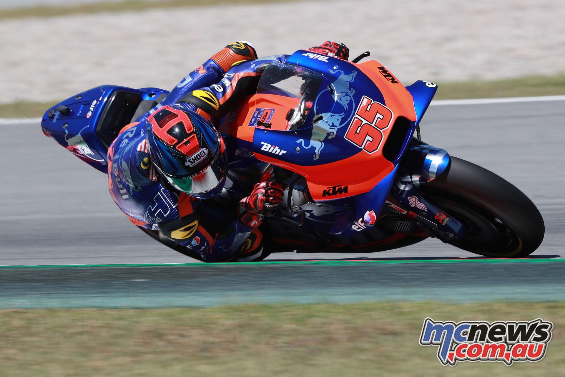 MotoGP Catalunya Test Hafizh Syahrin