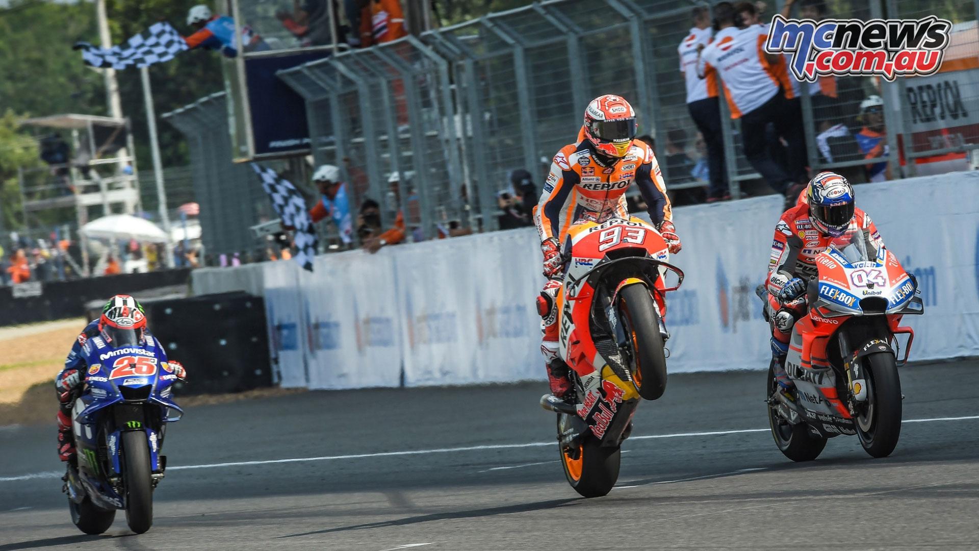 Thailand MotoGP Marquez Wheelie