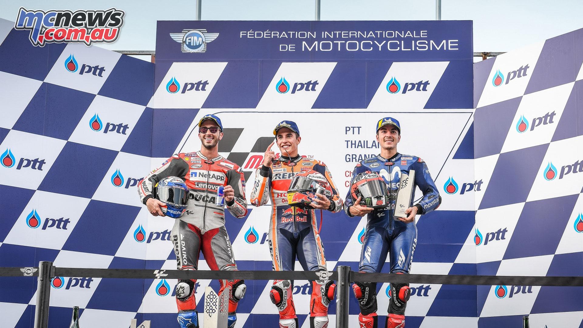 Thailand MotoGP Podium