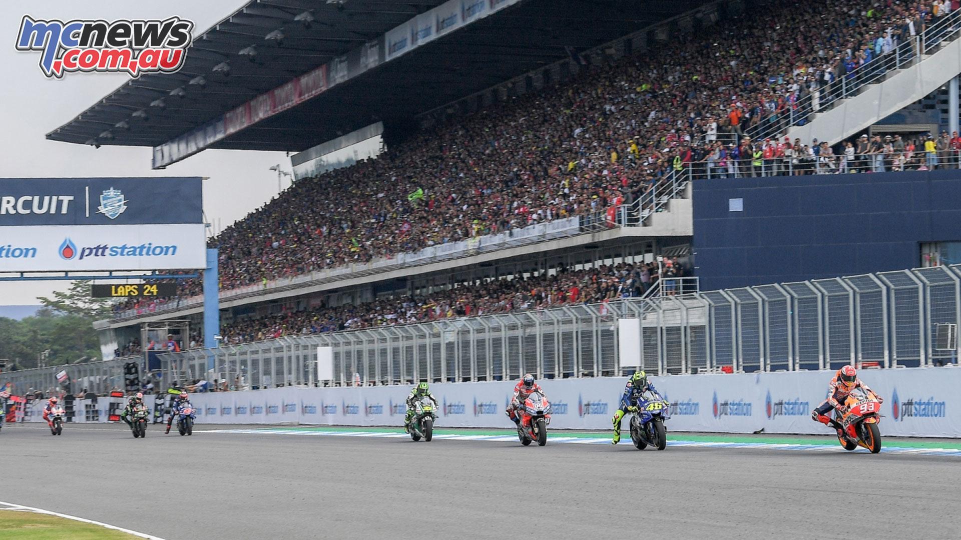 Thailand MotoGP Start Finish Line