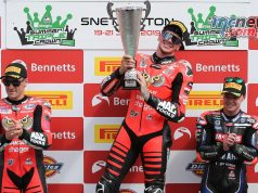 BSB Round Snetterton Race Podium Redding Report