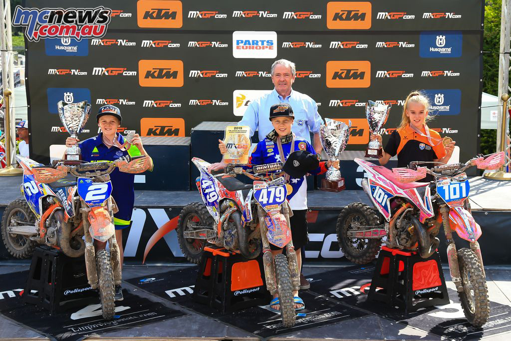 FIM Junior Motocross World Championship Italy Final MX Podium