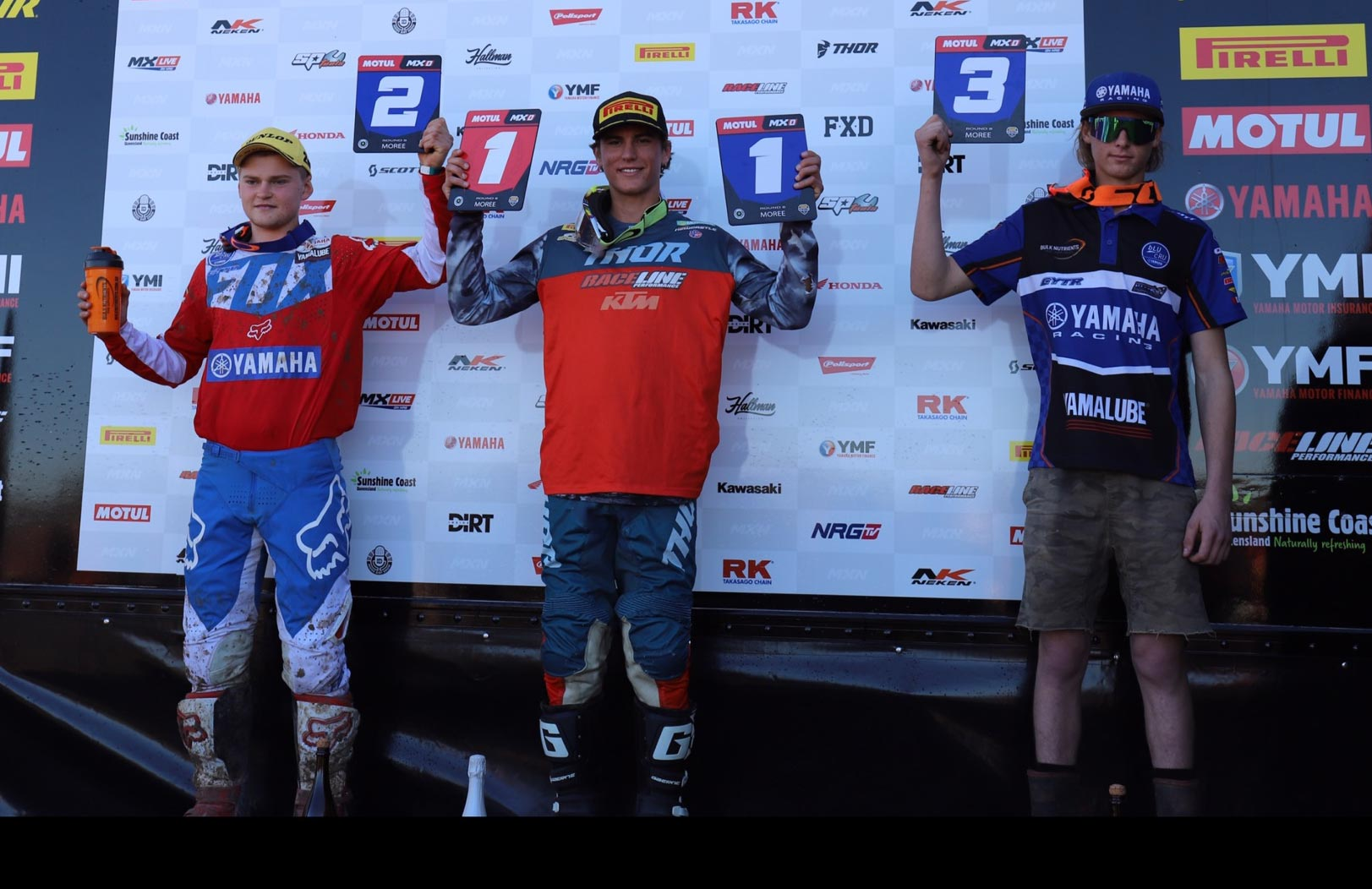 MX Nationals Rnd Moree st Regan Duffy nd Brodie Ellis rd Maximus Purvis MXD class