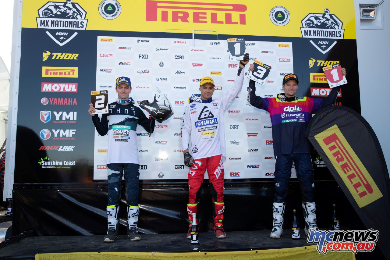 MX Nationals Rnd Moree MX Podium