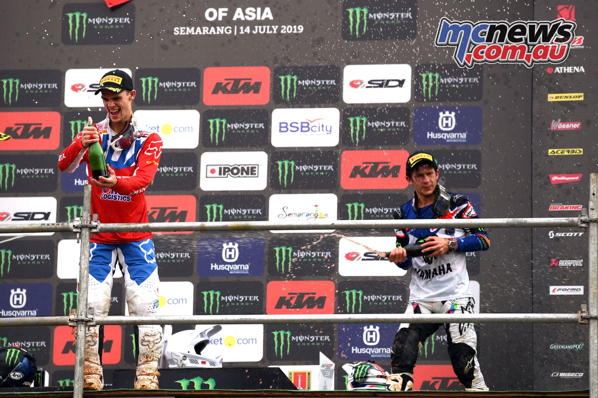 MXGP Asia Semarang Rnd Gajser Seewer podium