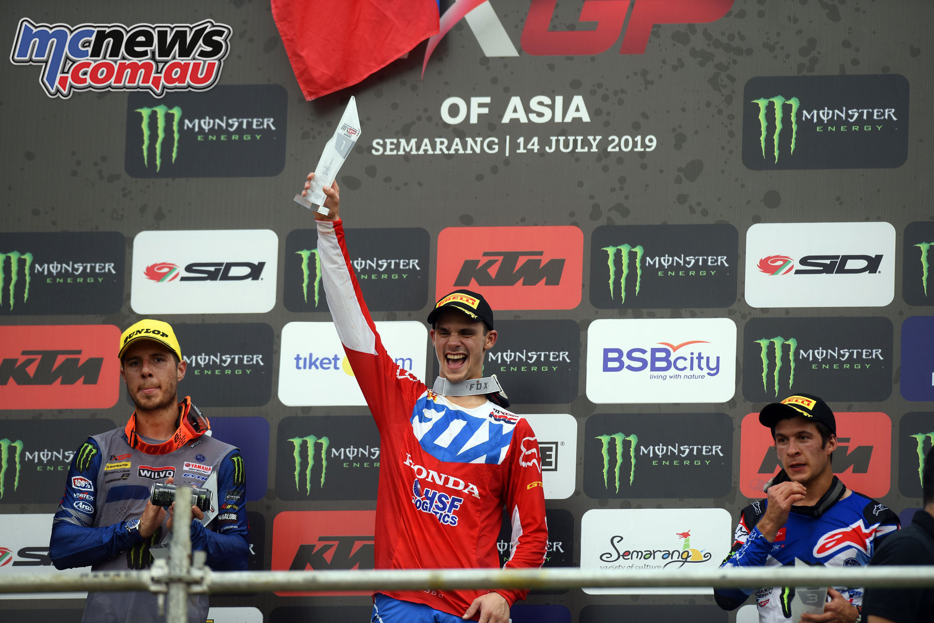 MXGP Asia Semarang Rnd Gajser podium
