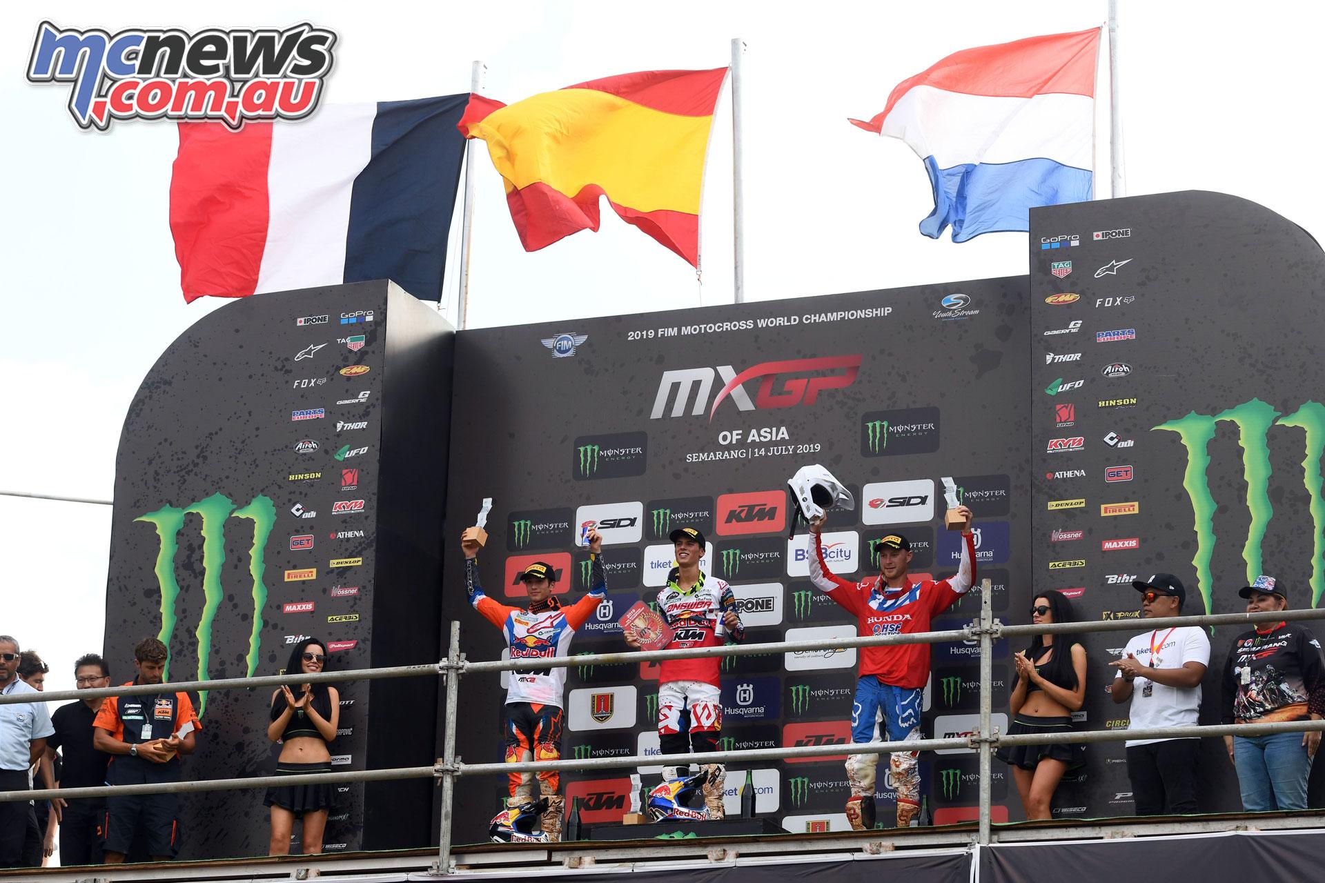 MXGP Asia Semarang Rnd Prado podium