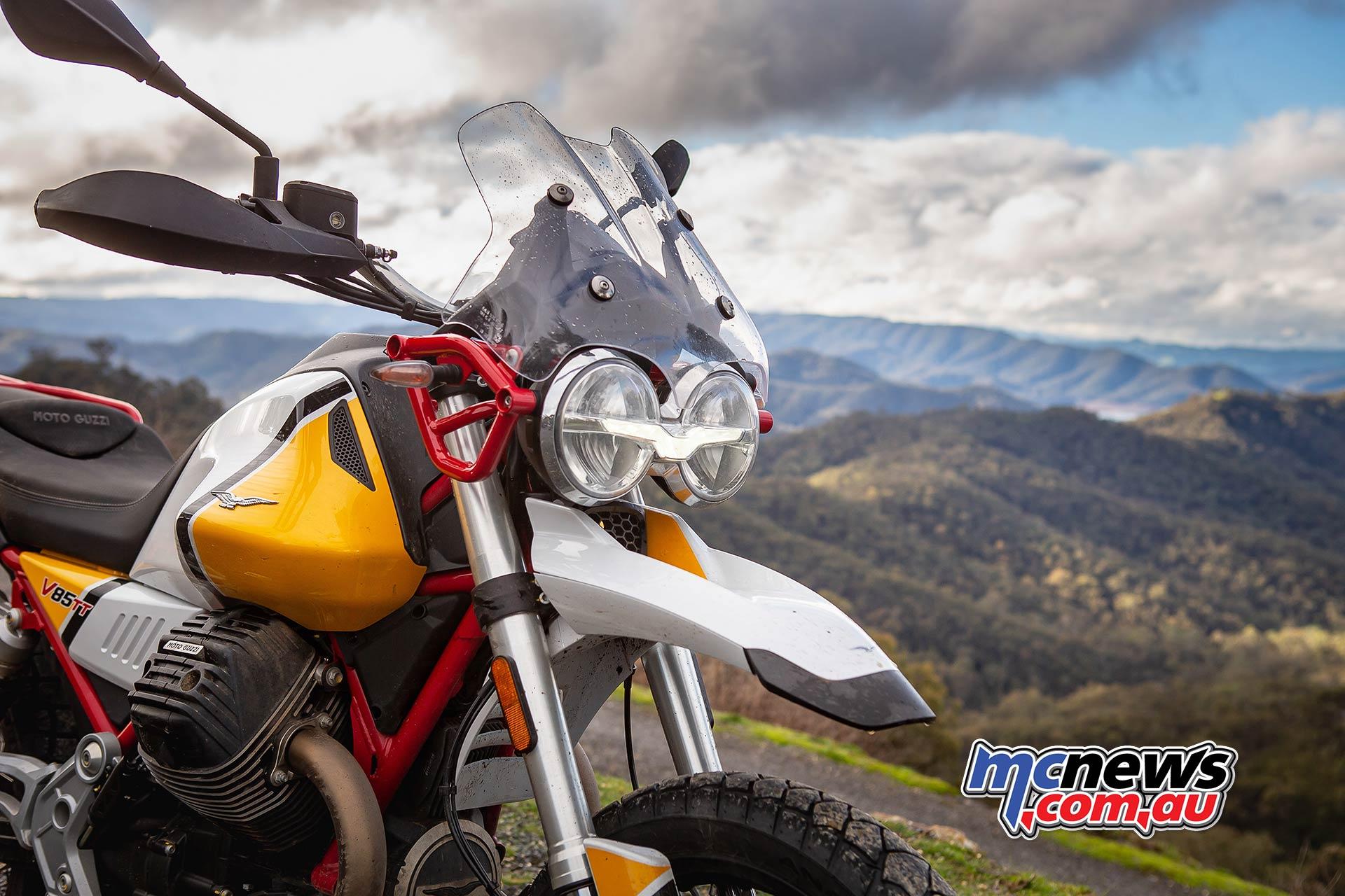 Moto Guzzi VTT Launch Lights