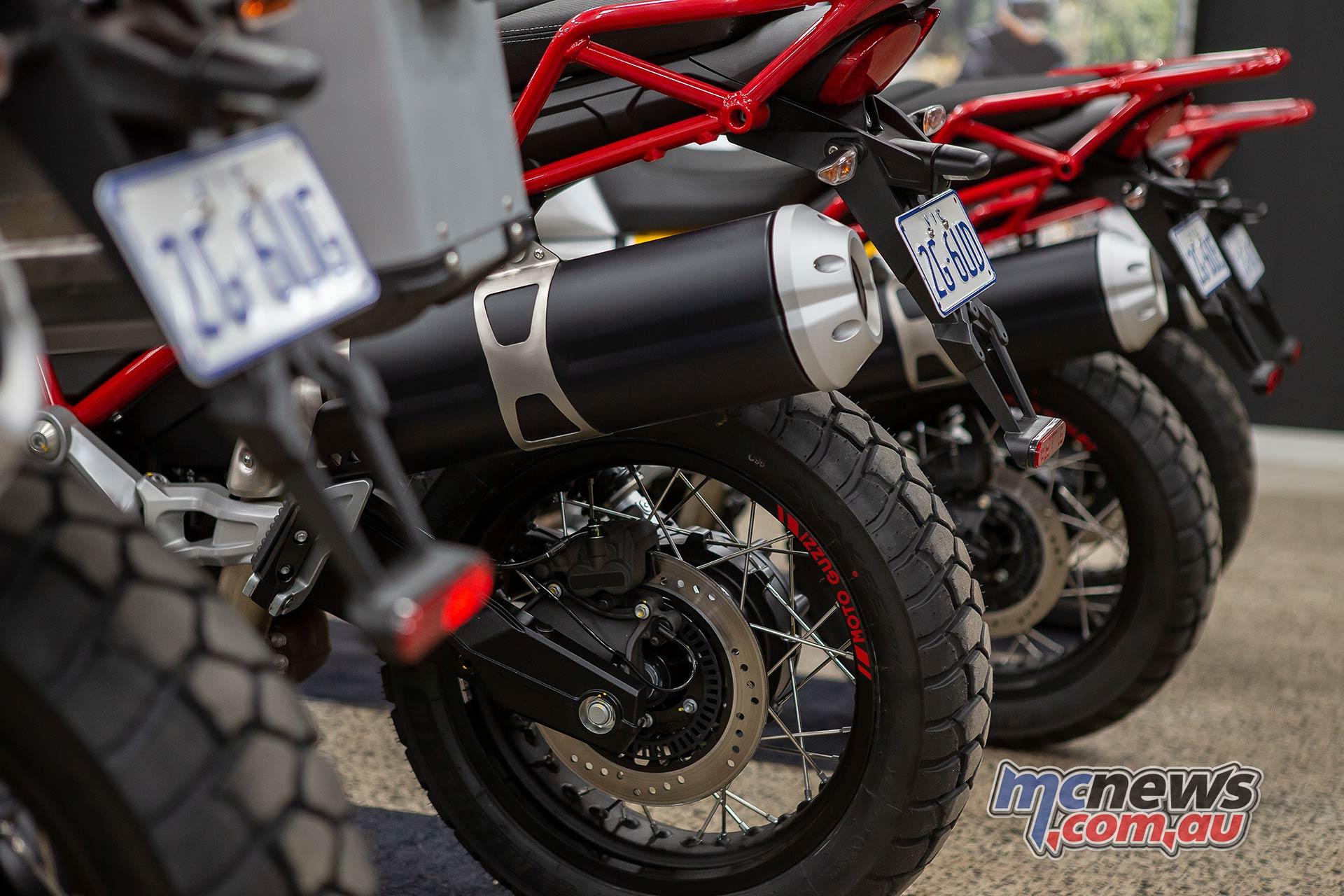 Moto Guzzi VTT Launch Muffler