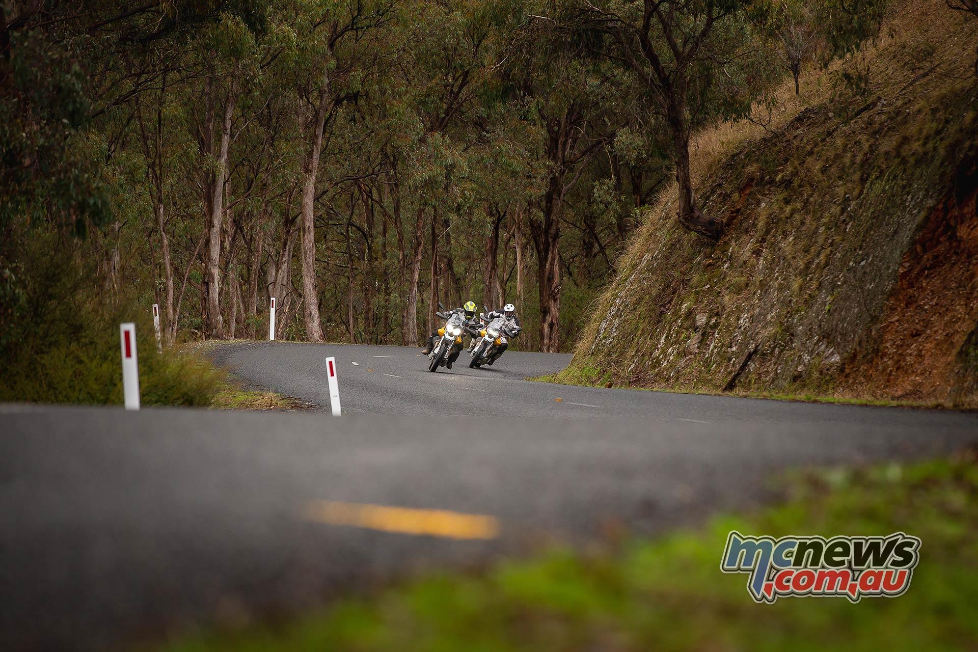 Moto Guzzi VTT Launch Riding