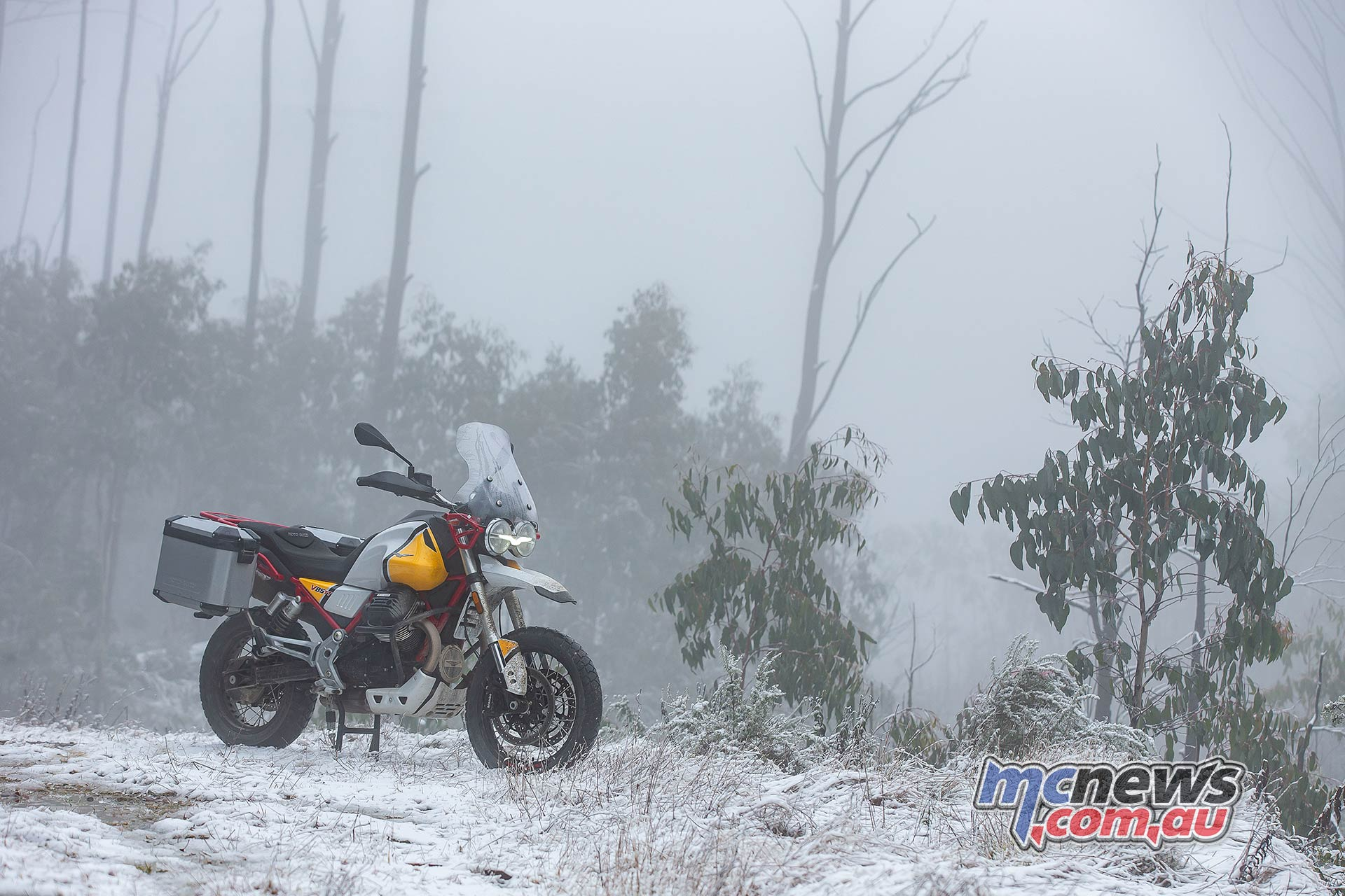 Moto Guzzi VTT Launch Snow