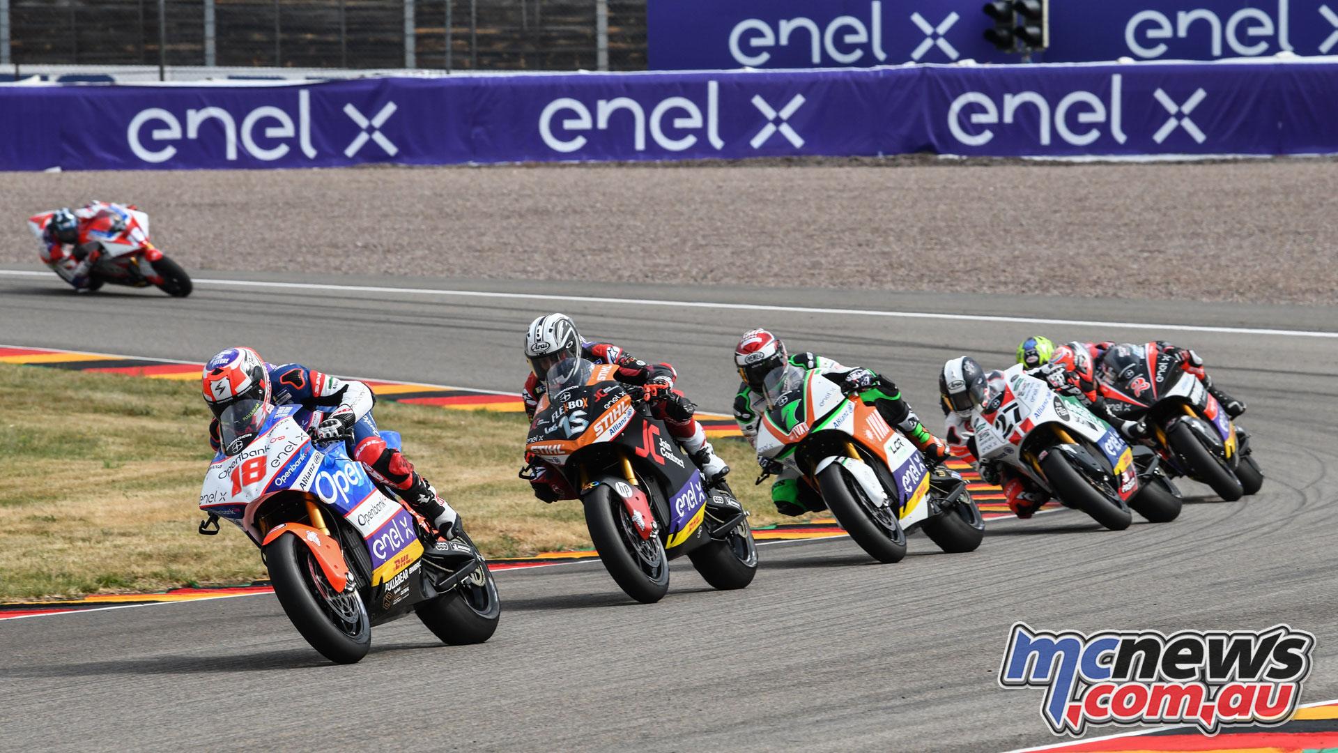MotoE Rnd Germany Terol leads Gibernau