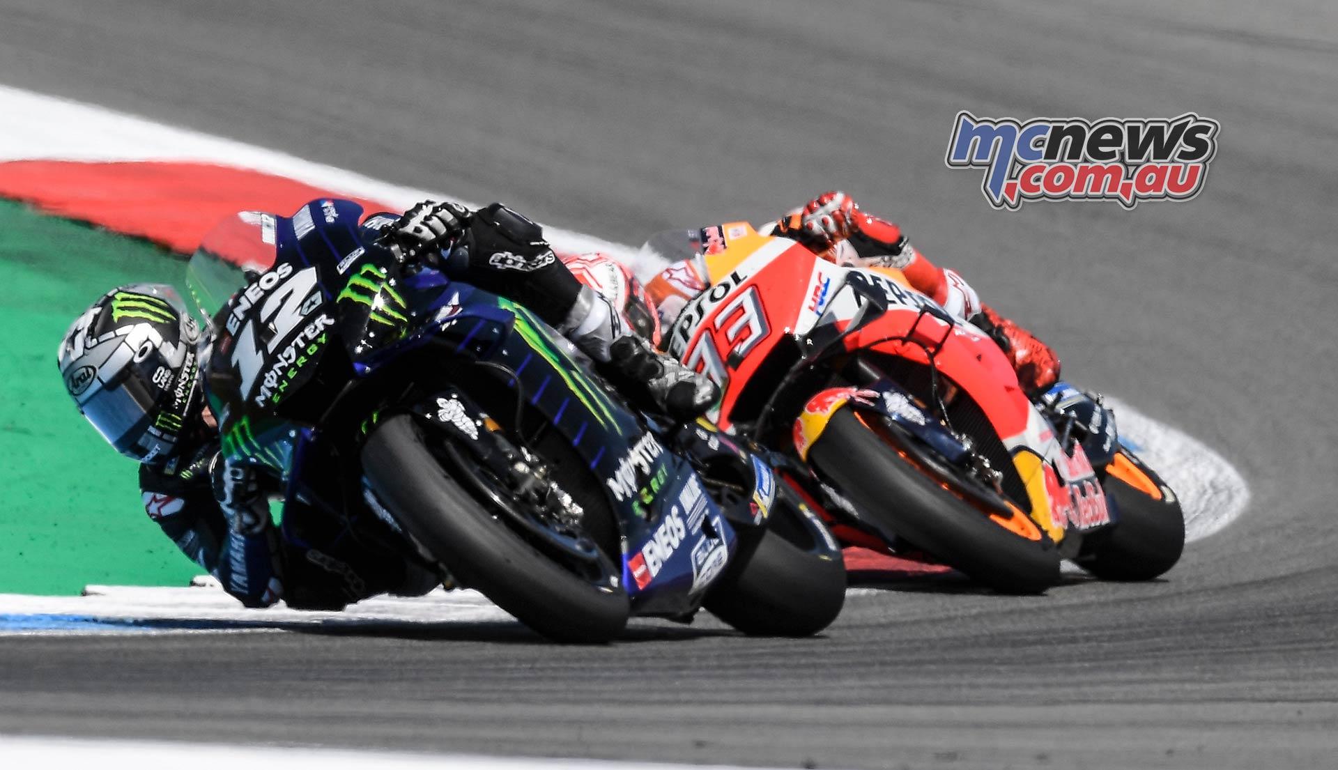 MotoGP Rnd Assen Race Marquez Vinales Close