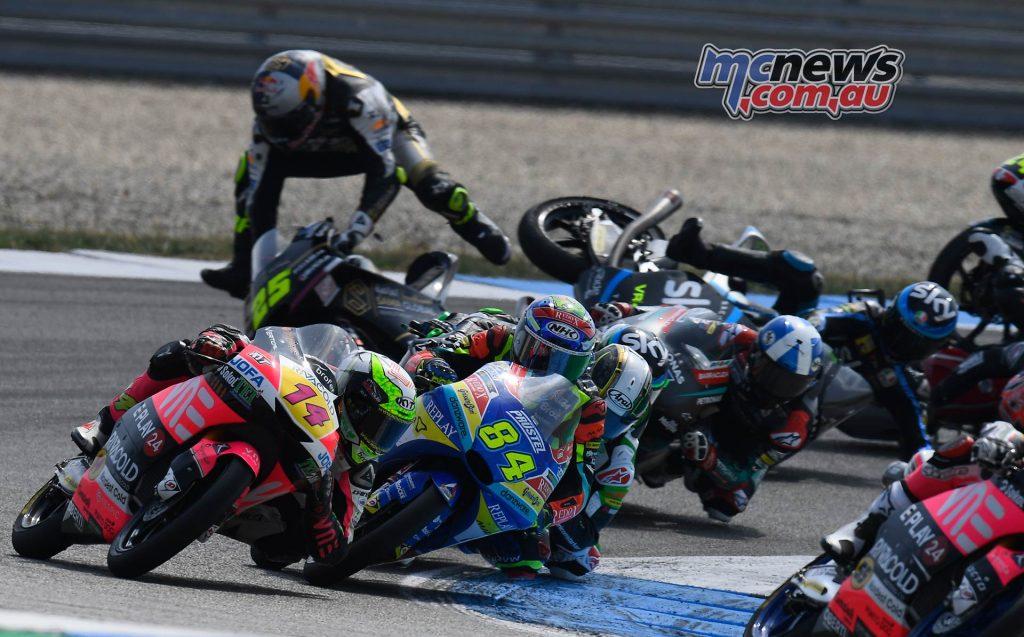 MotoGP Rnd Assen Race Moto Crash Fernandez