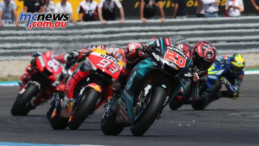 MotoGP Rnd Assen Race Quartararo Marquez Pack