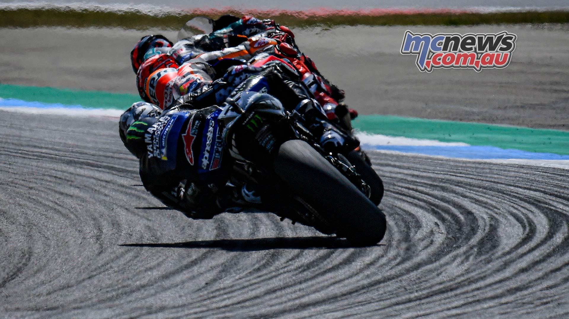 MotoGP Rnd Assen Race Quartararo Marquez Vinales Trio