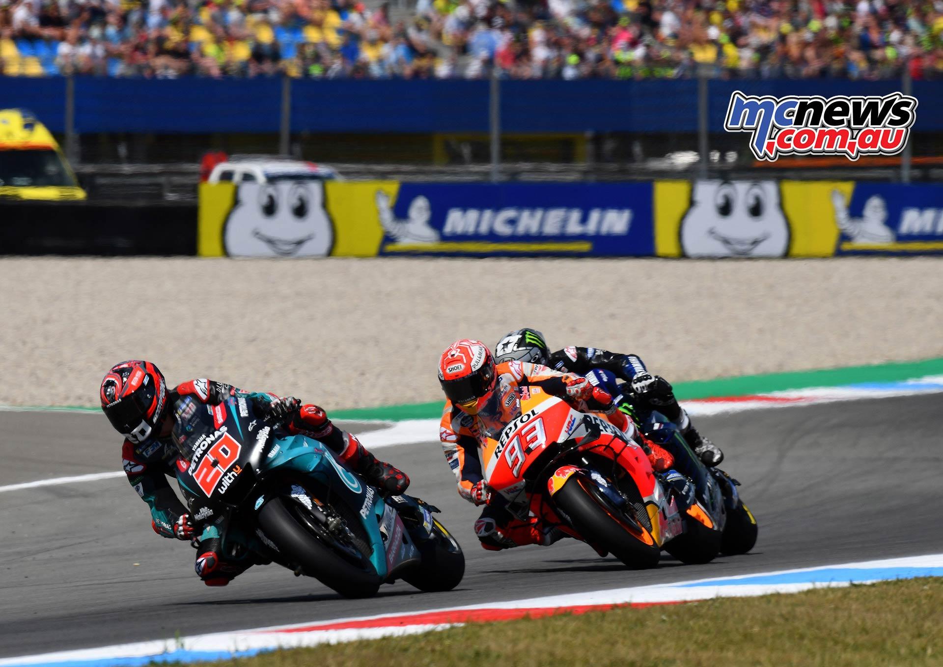 MotoGP Rnd Assen Race Quartararo Marquez Vinales