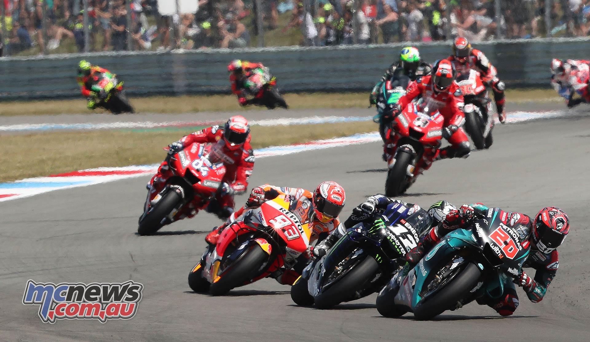 MotoGP Rnd Assen Race Quartararo Vinales Marquez Dovizioso