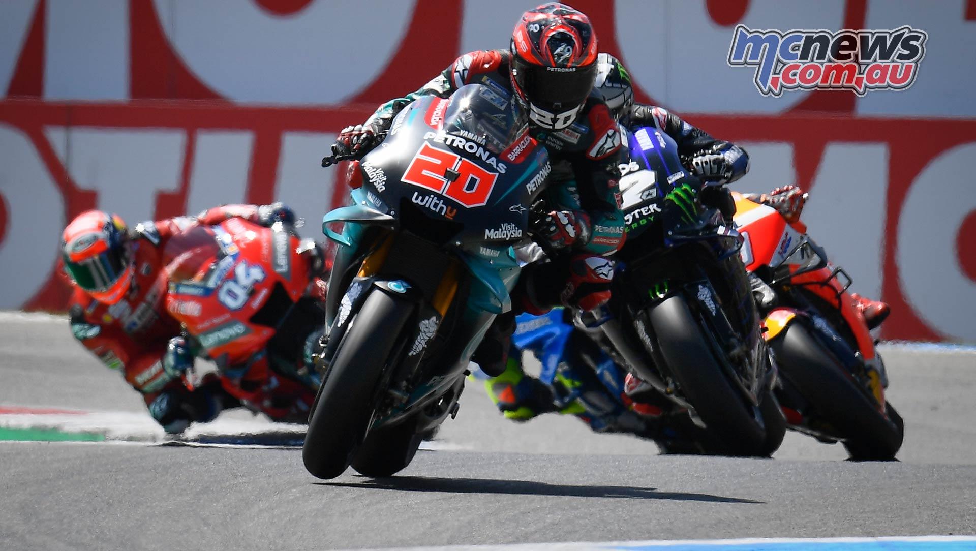 MotoGP Rnd Assen Race Quartararo Vinales Marquez Mir Dovi