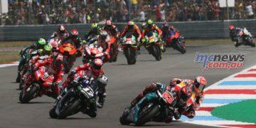 MotoGP Rnd Assen Race Start Quartararo Marquez Vinales