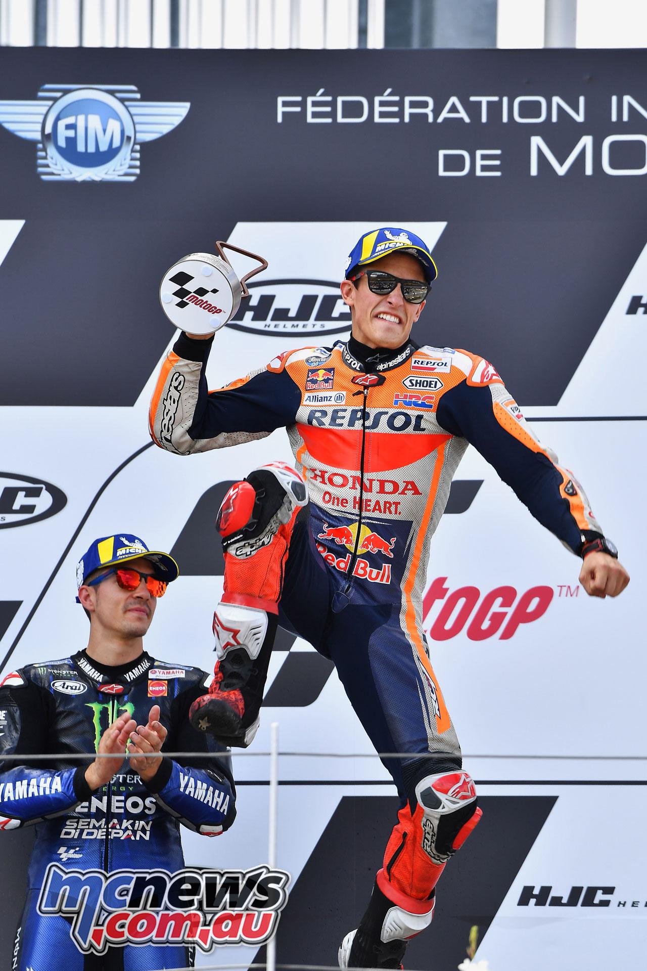 MotoGP Rnd Sachsenring Germany Marquez Podium
