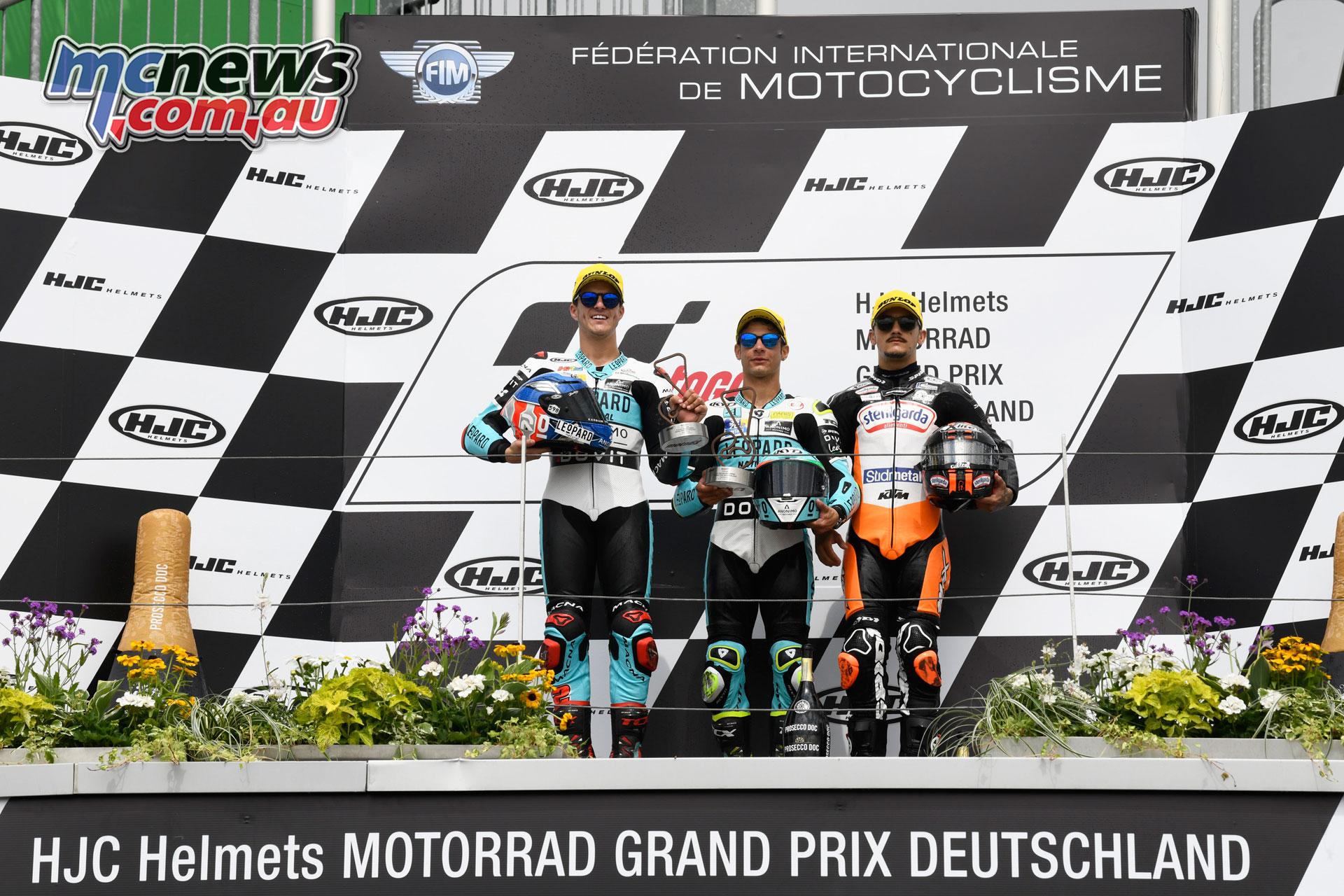 MotoGP Rnd Sachsenring Germany Moto Podium