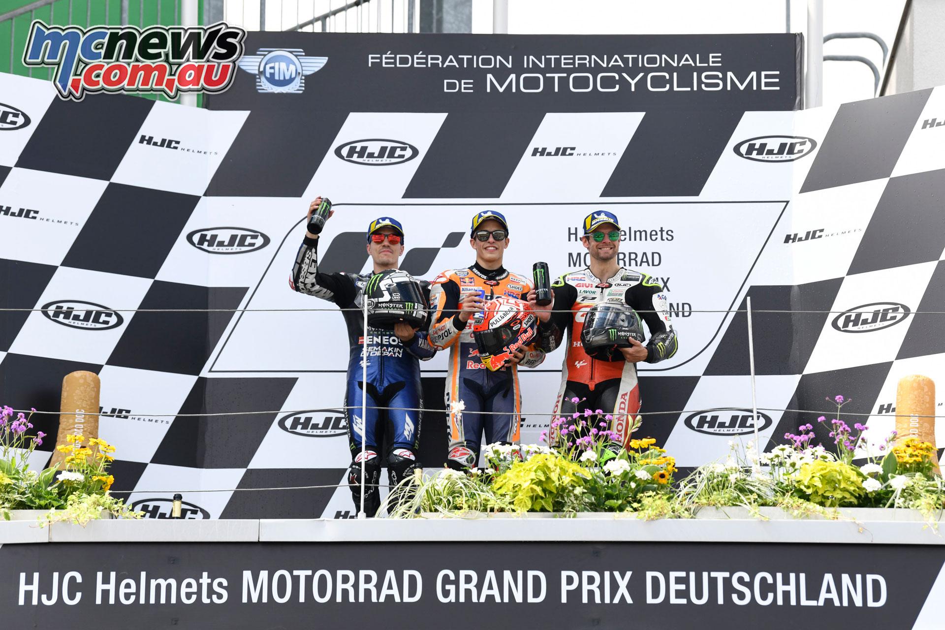 MotoGP Rnd Sachsenring Germany MotoGP Podium