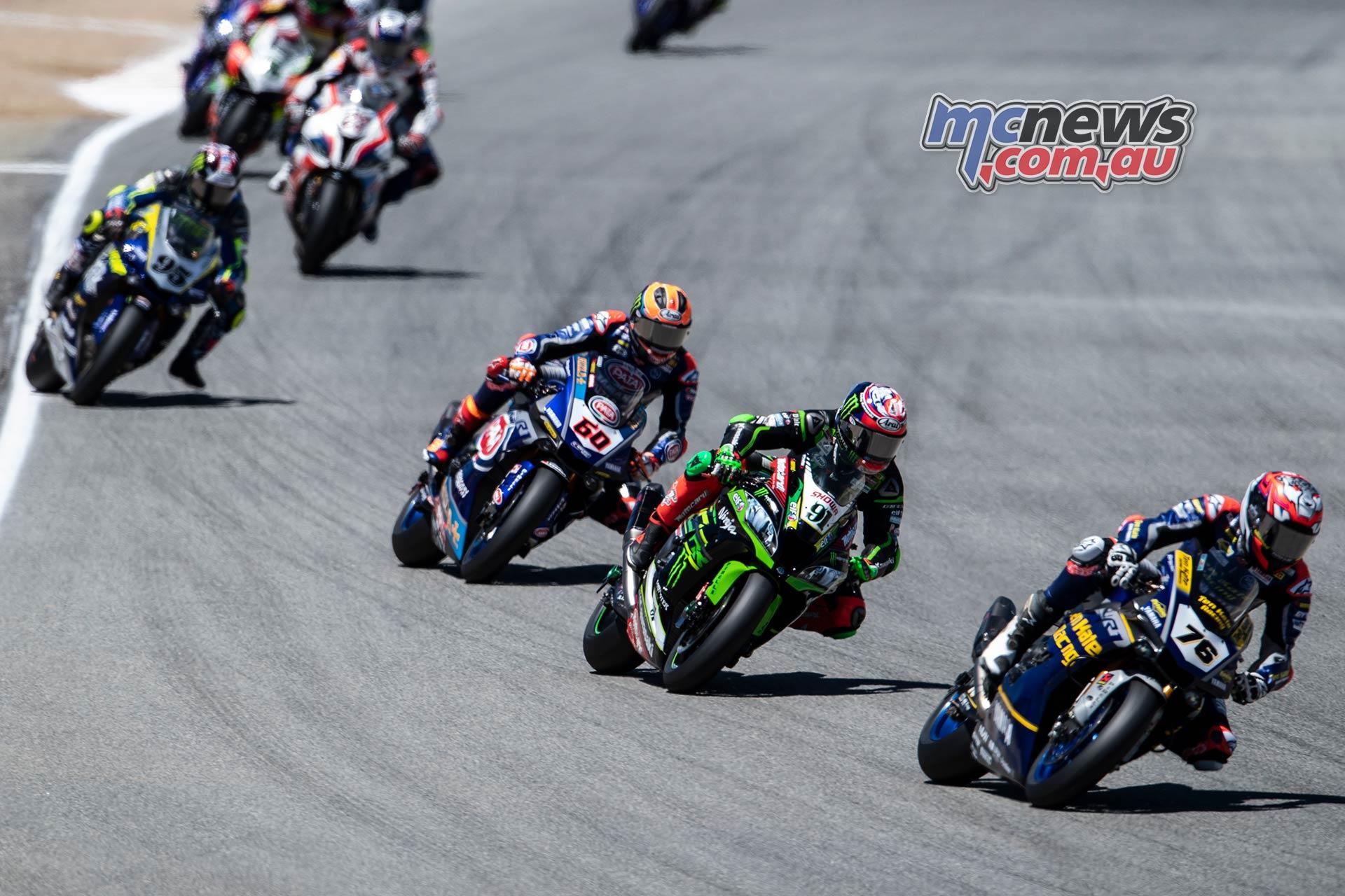 WSBK Rnd LagunaSeca Race Baz Haslam