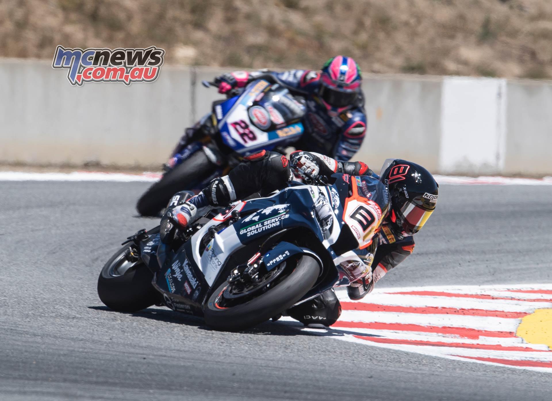 WSBK Rnd LagunaSeca Race Torres Lowes