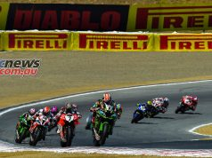 WSBK Rnd LagunaSeca Sunday Superpole Race Start