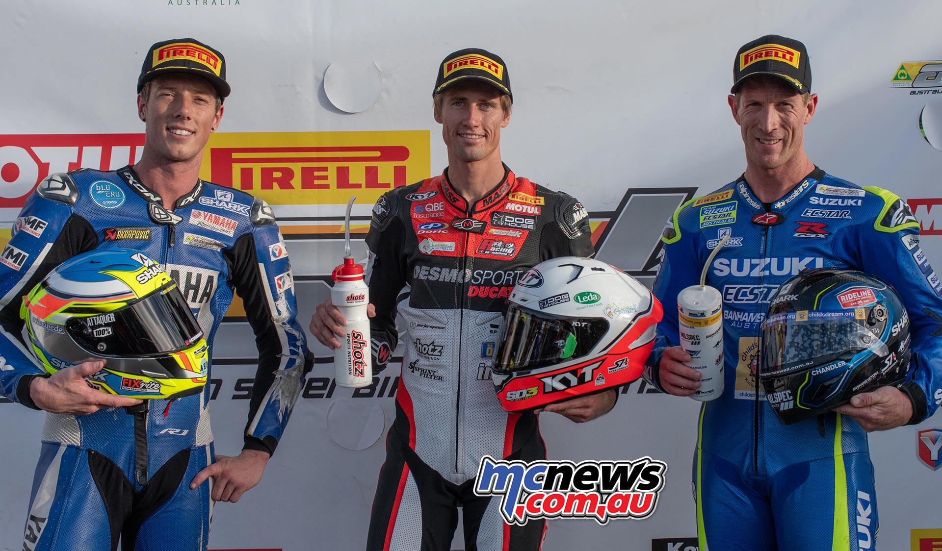 ASBK Rnd Morgan Park RbMotoLens QP Trio Jones Halliday Maxwell