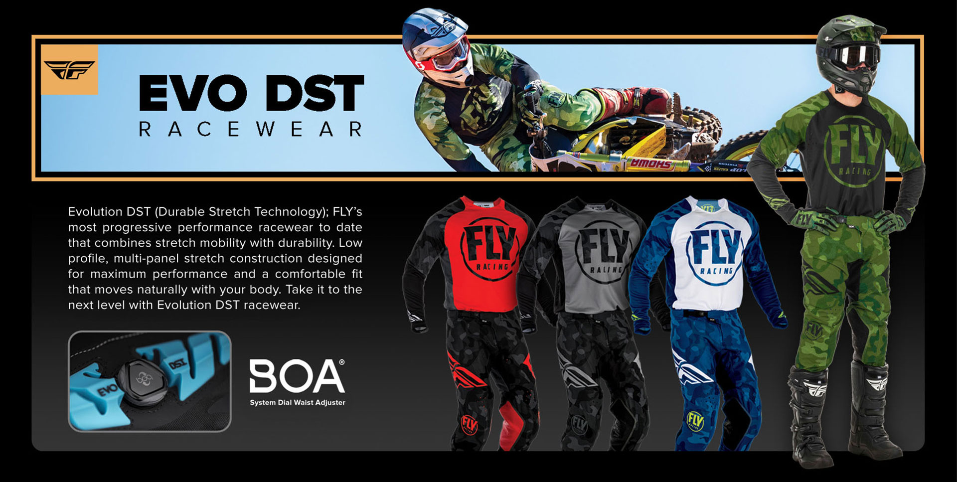FLY Racing Collection Evolution DST Gear