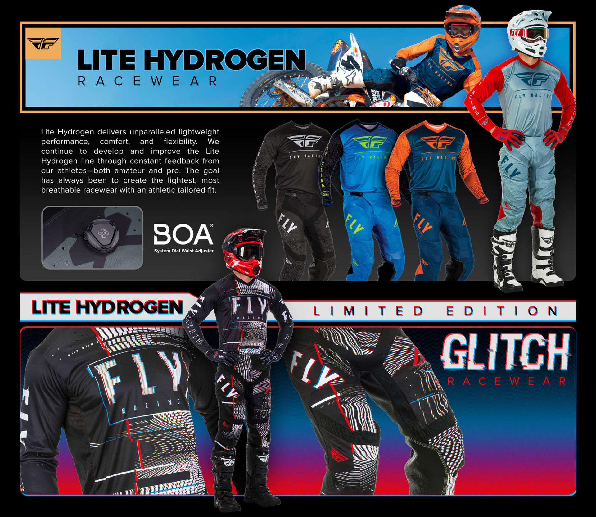 FLY Racing Collection Lite Hydrogen Gear